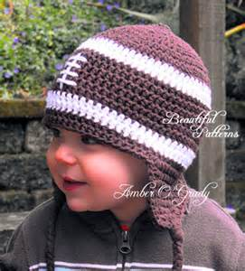 Baby Boy Crochet Football Hat Pattern