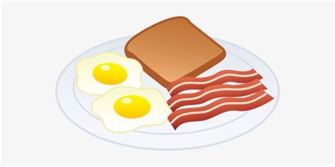 Eggs Bacon And Toast Free Clip Art - Bacon And Eggs Clip ...