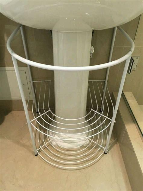 sink storage bath bathroom rack racks organizer stand systems solution ebay