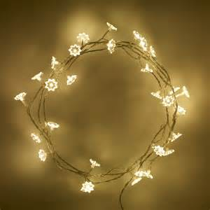 led christmas tree lights 30 warm white led sunflower indoor fairy lights