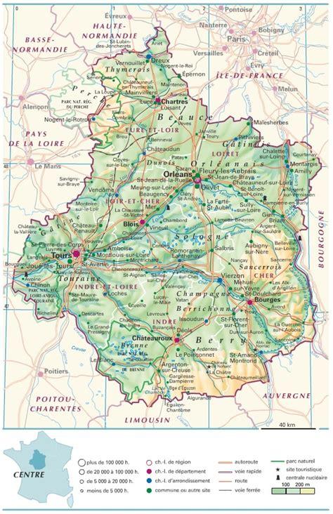 Carte Des Autoroutes Du Centre De La by Cartograf Fr Les R 233 Gions De Le Centre
