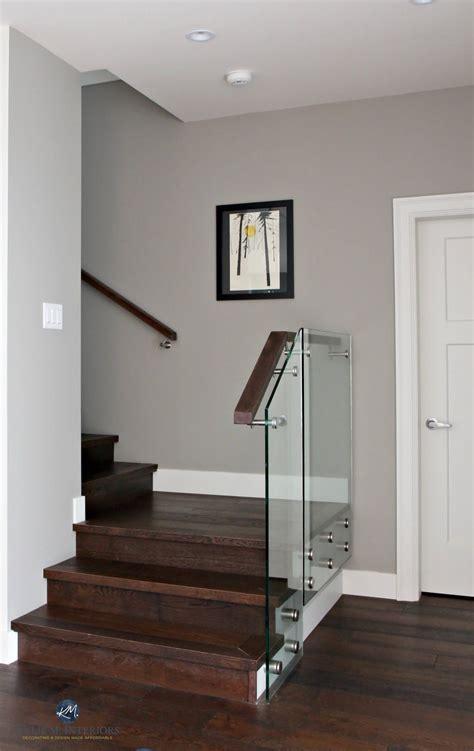 sherwin williams dorian gray  contemporary stairwell