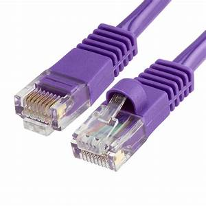 350 Mhz Rj 45 Cat5e Poe Patch Cable Purple