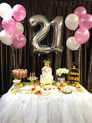 21st Birthday Party Decoration Ideas