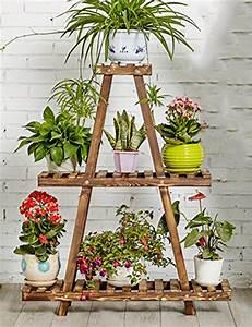 Etagere Pour Fleur : lhp tag re en bois massif 3 niveaux tag re pour ~ Zukunftsfamilie.com Idées de Décoration