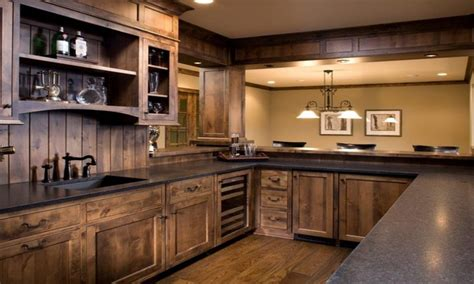 country style rustic hickory farmhouse kitchen knotty