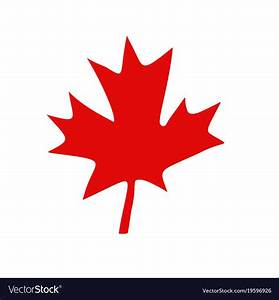 Canadian red maple leaf Royalty Free Vector Image