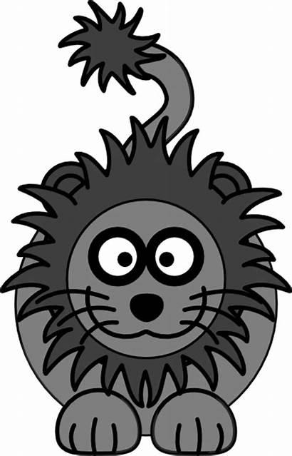 Lion Clker Clip Cartoon Clipart Domain