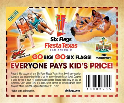 19928 Six Flags Tickets Coupons Discounts by Six Flags Coupons Samurai Blue