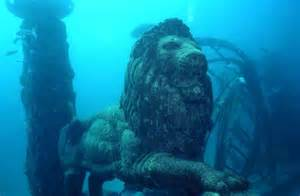 national cremation society underwater cemetery looks like the ruins of the lost city