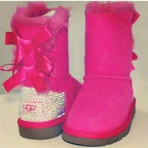ugg boots sale pink pink uggs with bows and rhinestones i think yes accessorize this
