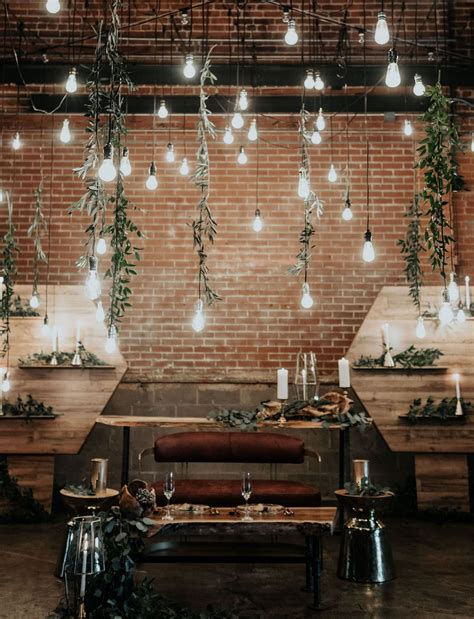 Hanging Decorations - refined industrial when wood meets water wedding