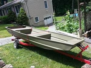 Jon Boat 14 U0026 39  With Trailer