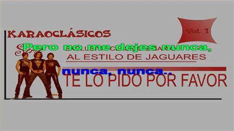 Te Lo Pido Por Favor Jaguares Karaoke. Hd