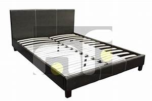 brand new black queen size pu leather bed frame latex With bed frame for pillow top mattress
