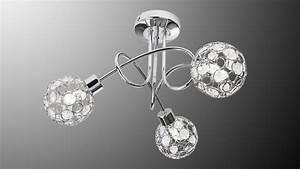 Deko Led Leuchtmittel : led deckenleuchte larga chrom metall acryl deko 3 flg mit leuchtmittel ~ Markanthonyermac.com Haus und Dekorationen