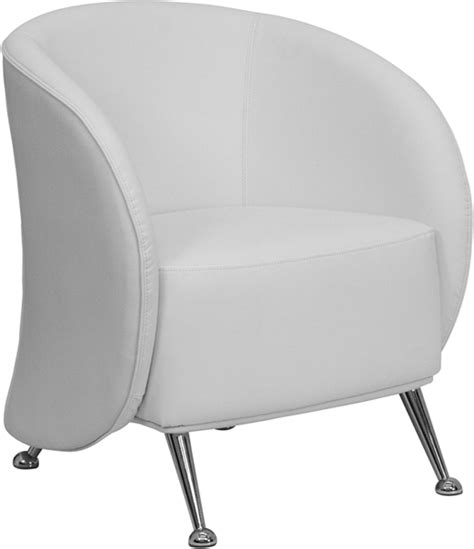 futuristic white leather reception chair bar
