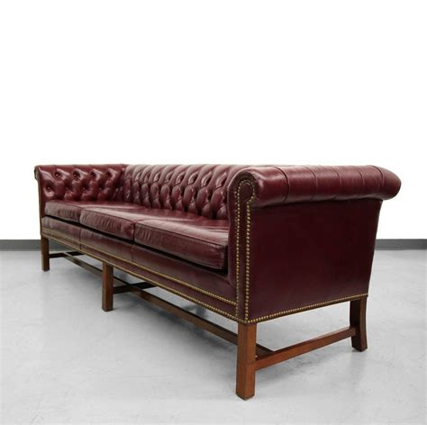 chesterfield style sofa vintage chippendale style leather chesterfield sofa at 1stdibs