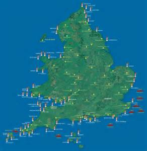 Image result for map of lighthouses south uk