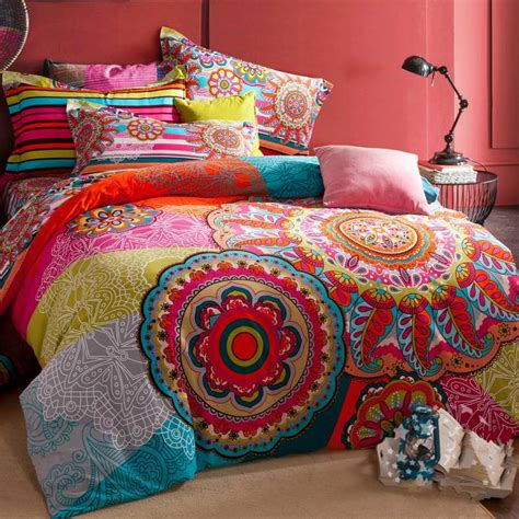 bohemian style comforter sets warm sanded cotton home textile boho bedding sets