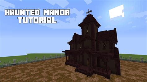 minecraft   build  haunted house tutorial youtube