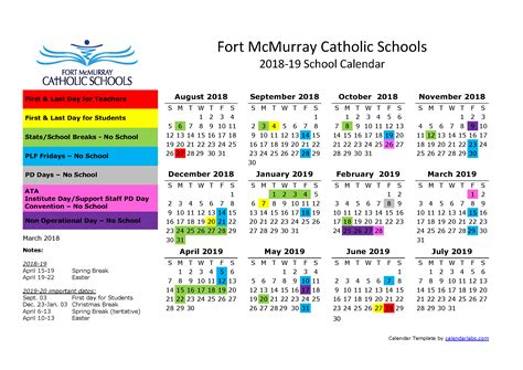 school calendar elsie yanik catholic school