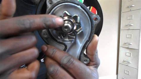 water pump  bad bearings youtube