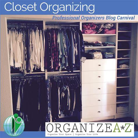 closet organizing professional organizers carnival