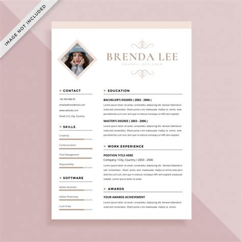 Cv Coloré Gratuit by Curriculum Vitae Femenino Simple Cv Dise 241 O De Plantilla