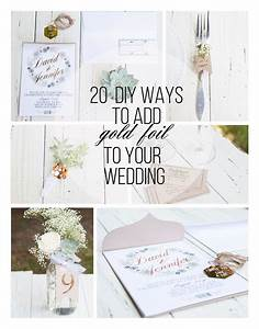 20 ways to add gold foil to your wedding with the With minc foil wedding invitations
