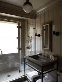 masculine  modern industrial bathroom   west