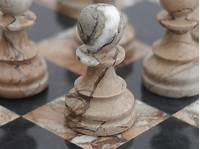 marble chess pieces Marina and Boticini Black Marble Chess Set with Marble ...