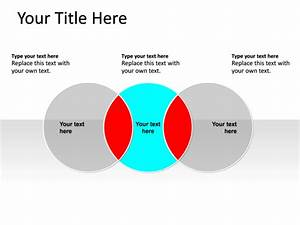 Powerpoint Slide - Venn Diagram - Blue - 3-circles