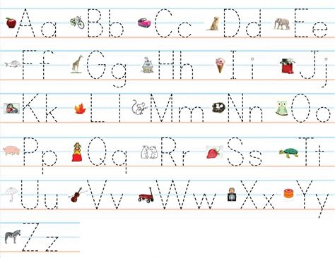 alphabet practice worksheets colorful classroom