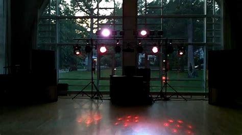 dj light show set up high school