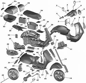 Vespa Scooter Part Diagram