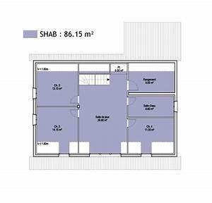 surfaces shob shon et habitable cas pratique en images With comment calculer surface habitable maison