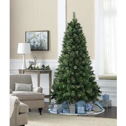 jaclyn smith 75 ft ridgedale pine multi color lit christmas tree trees buy artificial trees at sears