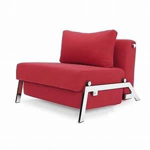 Fauteuil lit design sofabed cubed rouge convertibl achat for Salle de jeux maison 17 fauteuil lit design sofabed cubed rouge convertibl achat