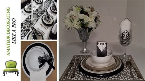 """DIY Dollar Tree Place Settings and Centerpieces """"Haves VS"""