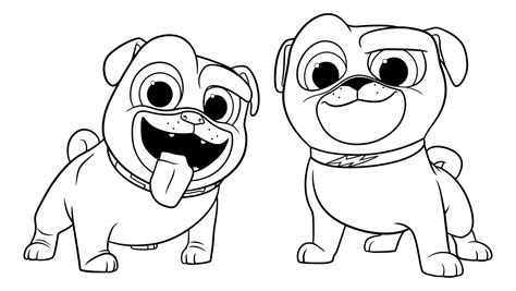 Free Printable Coloring Pages Puppy Dog Pals