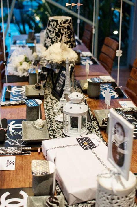 karas party ideas chanel bridal shower bachelorette party