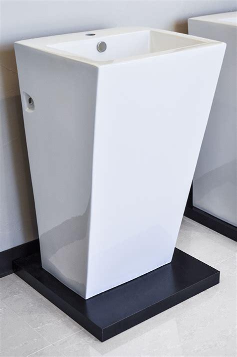 contemporary bathroom pedestal sinks modern pedestal sink cesaro