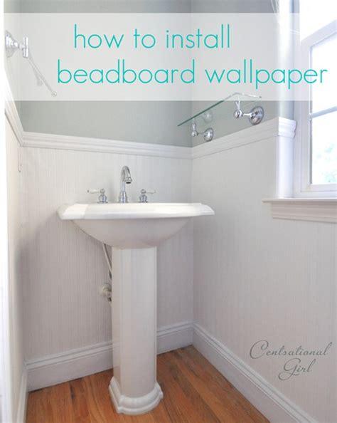 Installing Beadboard Wallpaper  Centsational Style
