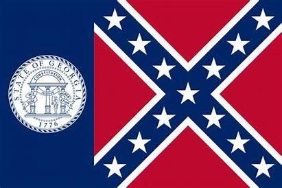 Flag Georgia Right State 1956 Confederate Haddonfield