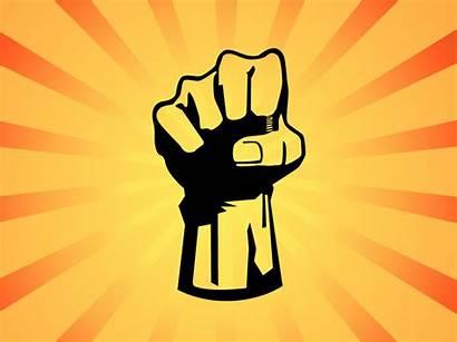 Fist Power Graphic Vector Graphics Background Orange
