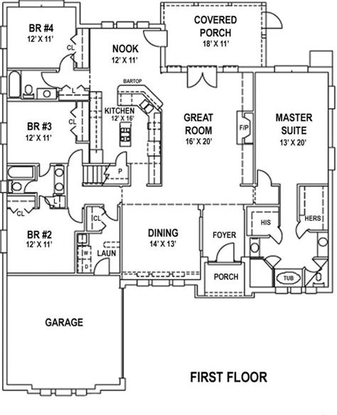 5 Bedroom 4 Bath Coastal House Plan #ALP 0998