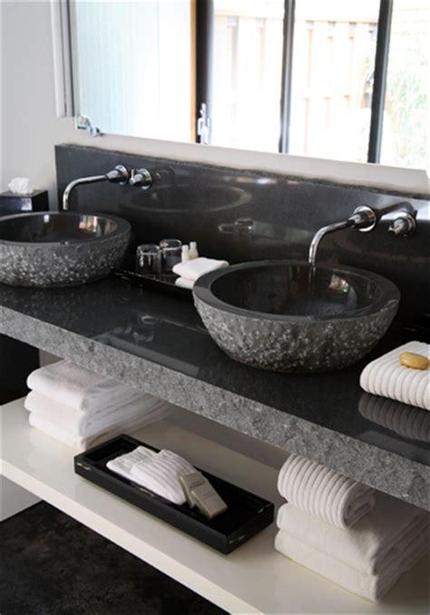 black granite vanity contemporary bathroom paul