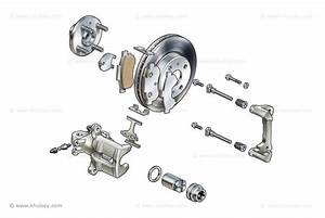 This Diagram Shows A Car U0026 39 S Full Disc Brake Assembly With