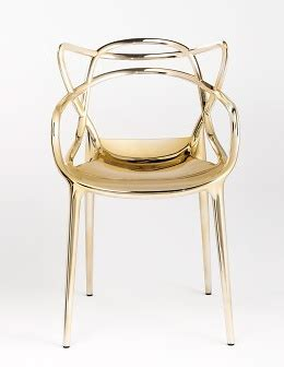chaise master starck philippe starck masters gold chair
